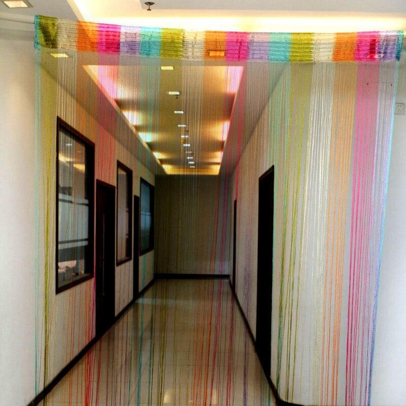 1*2 Multi-farbe Tür Fenster String Vorhang Fringe Raumteiler