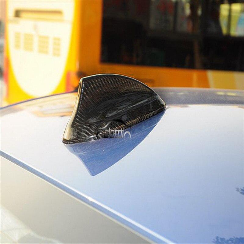 En Fiber De carbone Aileron de Requin Antenne Couverture Pour BMW E46 E90 E92 F20 F30 F10 F34 G30 M2 M3 M4 F15 F16 X5M X6M Car Styling Accessoires