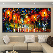 ФОТО reliabli art romantic walking cityscape city poster in the rain print wall customizable wall picture home room decor canvas pain