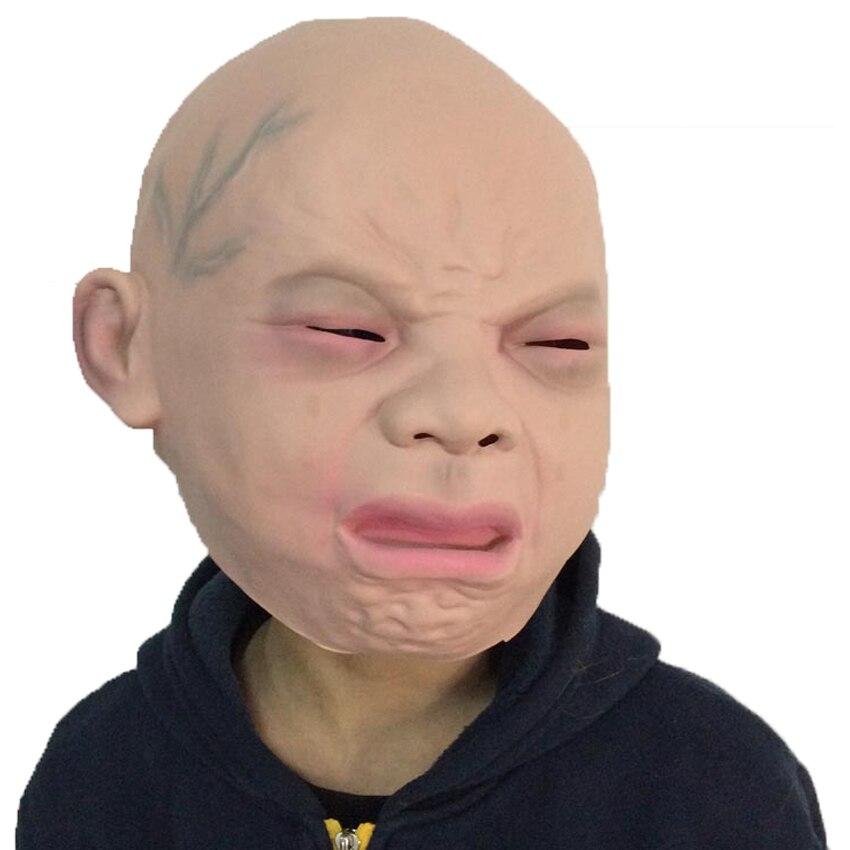 Партии маски Ужас плач ребенка страшно силиконовые Уход за кожей лица маска партии экологичный Латекс Полный Маски для век для Хэллоуин пар...