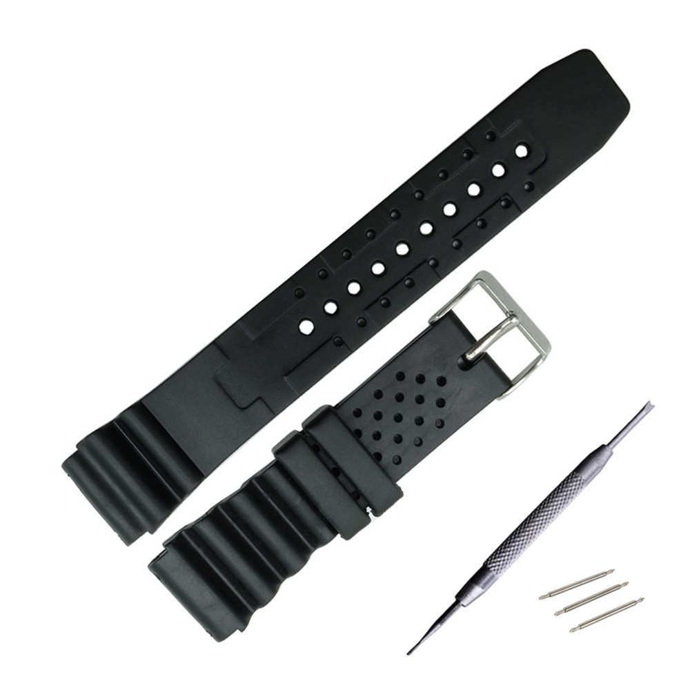 18 20 22mm Replacement for Rubber Diver Watch Strap silicone Band For Seiko SKX171/173KX779/781DAL1BP + Tool