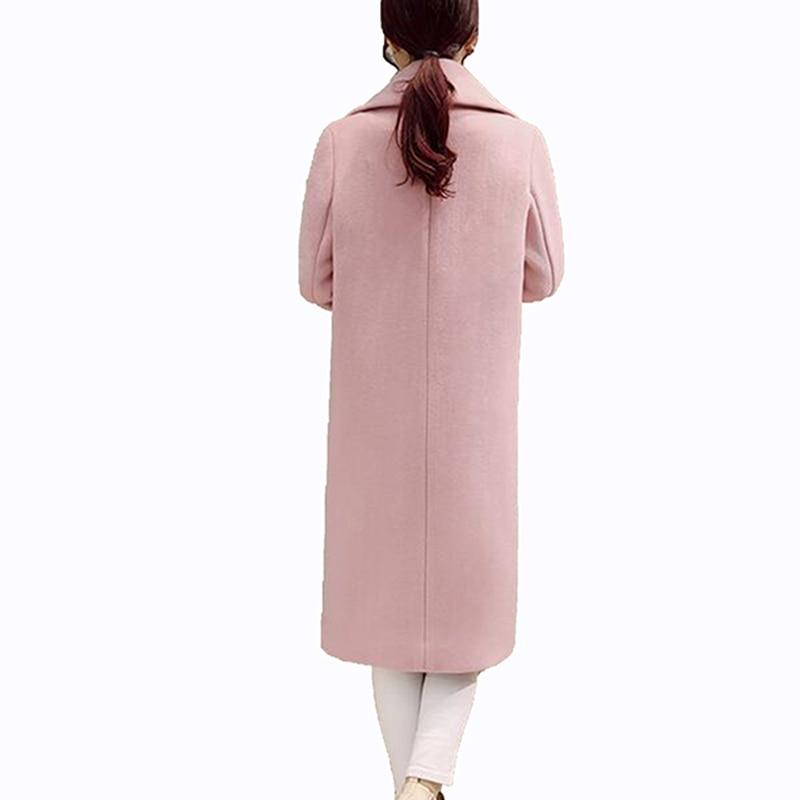 rose Femmes Longues Pur Lâche De gris Au Mode En Cocon Long Qualité Chaud Manteau Garder Green Couleur Manches À Noir Haute Lu306 2017 Revers Laine gray F4dOqwd8x