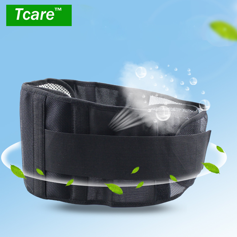 * Tcare Elastic Tourmaline Self-heating Magnetic Therapy Waist Belt Lumbar Support Back Waist Support Brace lumbar Health Care hailicare back relief belt waist brace support belt lumbar traction backach waist brace pain release health massager health care
