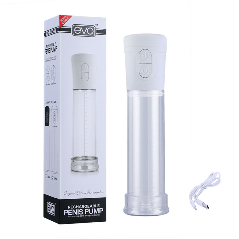EVO Electric Vacuum Penis Pump Handsome Up Enlargement Extender Enhancer Penis Extension male Masturbator Sex Toys for men