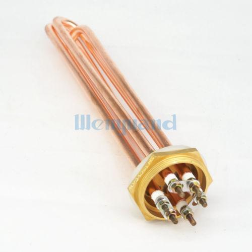 Home Stetig 220 V 6000 Watt Dn40 1-1/2 bsp Male Messing Kopf & Kupfer Elektrische Wasser Heizelement Für Tank üBerlegene Materialien