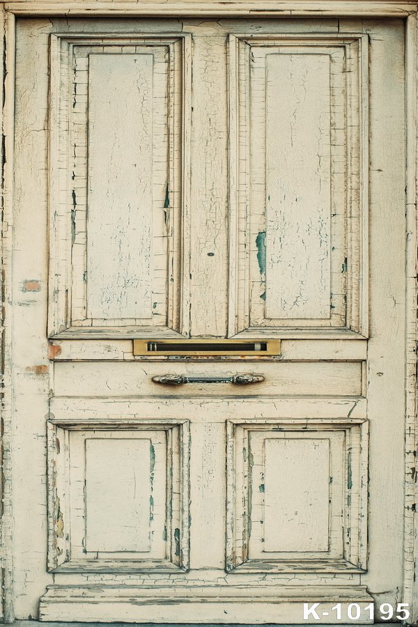 Vintage Europe Style White Door Picture Photographers Backdrop Digital Art Fabric Shooting Vinyl Photo Studios