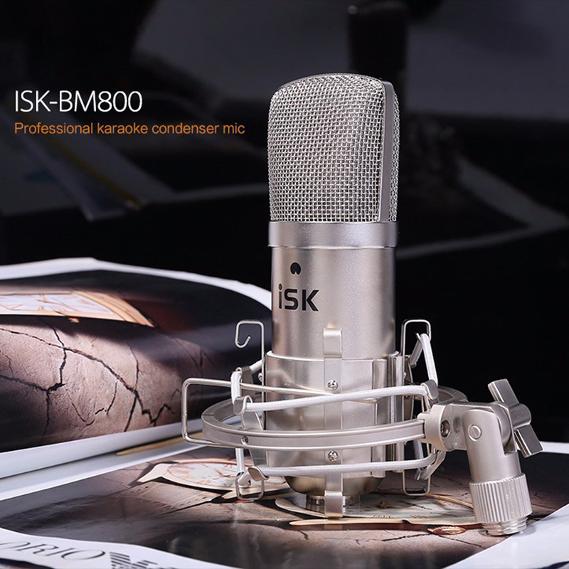 ФОТО 2016  ISK BM-800 Channel stereo Condenser Recording Studio  Broadcast Microphone High sensitivity output  low noise MIC L3EF