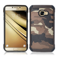 For Samsung Galaxy A7 2017 A720 Hybrid Armor Plastic + TPU 2 in 1 Army Camo Camouflage Rear Cover Case