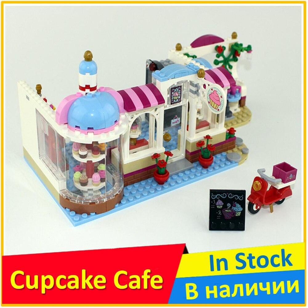 Heartlake Cupcake Cafe 41119 Building Blocks Model Toys For Children BELA 10496 Compatible legoes Friends Bricks Figure Set