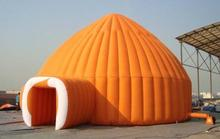 Good quality large Orange dome tent camping tent inflatable dome tent