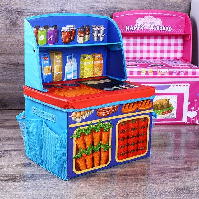 Multi-function folding Game table Storage stool Children Toys Cartoon Kitchen storage box Organizer Toys & Multi function folding Game table Storage stool Children Toys ...