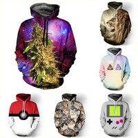 Alisister New Fashion 3D Galaxy Hoodies Print Hemp Tiger Cat Jacket Men Women Harajuku Sweatshirt Casual
