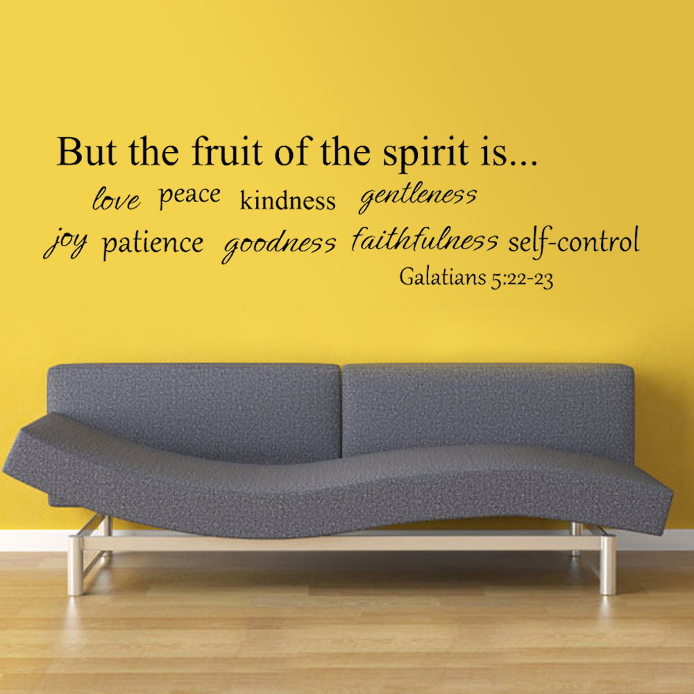 Fruit of Spirit Wall Quote Decal Bible Wall Quote Religious Wall ...