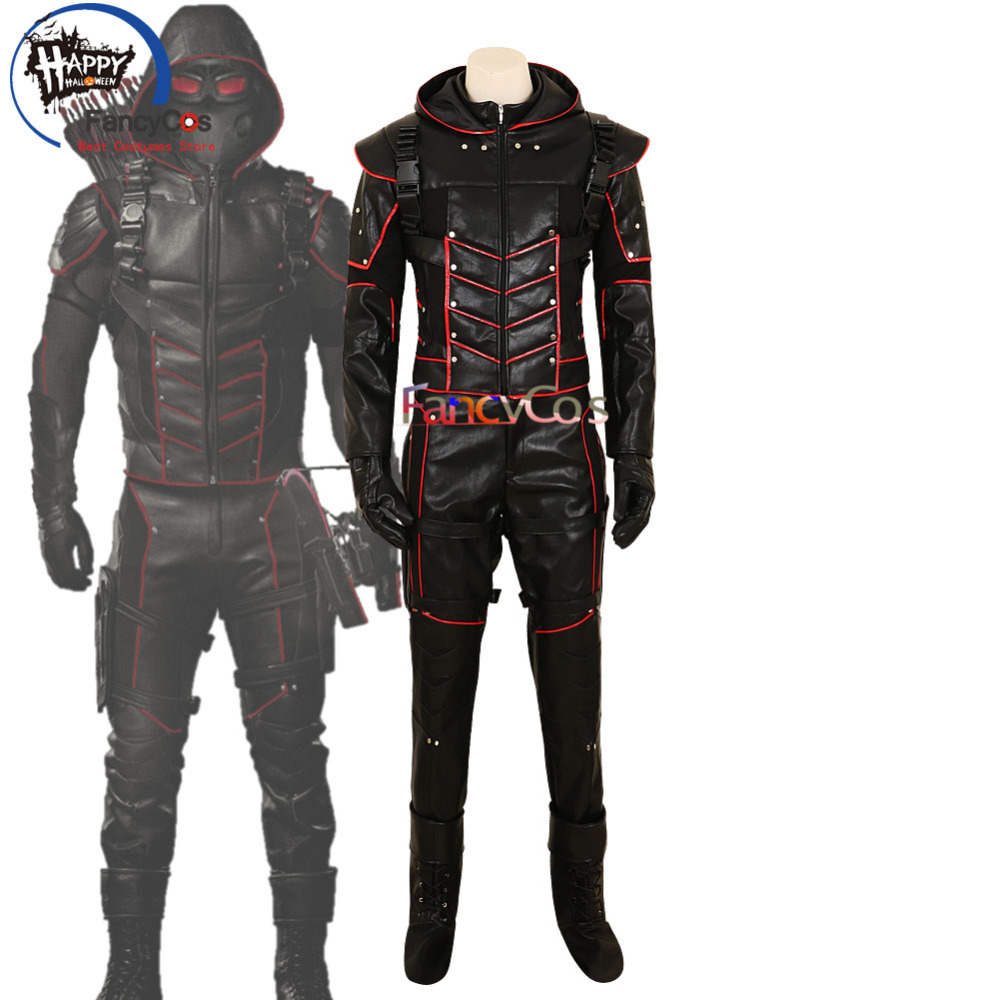 Halloween Green Arrow Season 7 Oliver Queen Variant Dark Arrow Movie Costume Cosplay Anime High Quality Deluxe