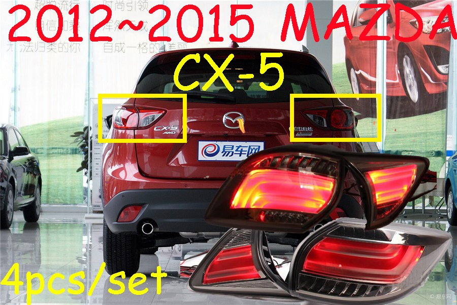 car-styling,CX-5 Taillight,2012~2016,led,Free ship!4pcs,CX-5 fog light;car-covers,CX-5 tail lamp,Chrome;CX 5,CX5 car styling rav4 taillight 2009 2012 led free ship 4pcs set rav4 fog light car covers chrome car detector rav4 tail lamp rav 4