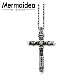 Cross Pave Link Necklace 2019 Brand New Chain Fashion Jewelry Rebel Cross Jewellery Gift Men Women Friend