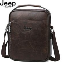 JEEP BULUO Famous Brand Men Messenger Bags High Quality Split Leather Large Capaticy Bag 2019 New Arrivals Best Gift For Him