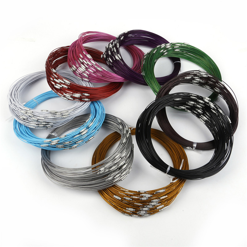 5//10Pcs Leather Chains Necklace Charms Finding String Cord 3mm 46cm DIY