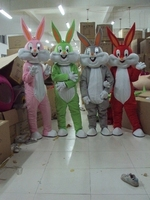 Fast Free Shipping Bugs Bunny Mascot Mascot Costume Cheap Adult Character Costumes Cartoon Outfit+Cardboard head