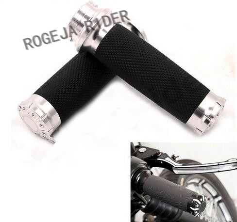 1 Pair 1/'/' Handlebar Hand Grips For Harley Electronic Throttle Touring Tri-Glide