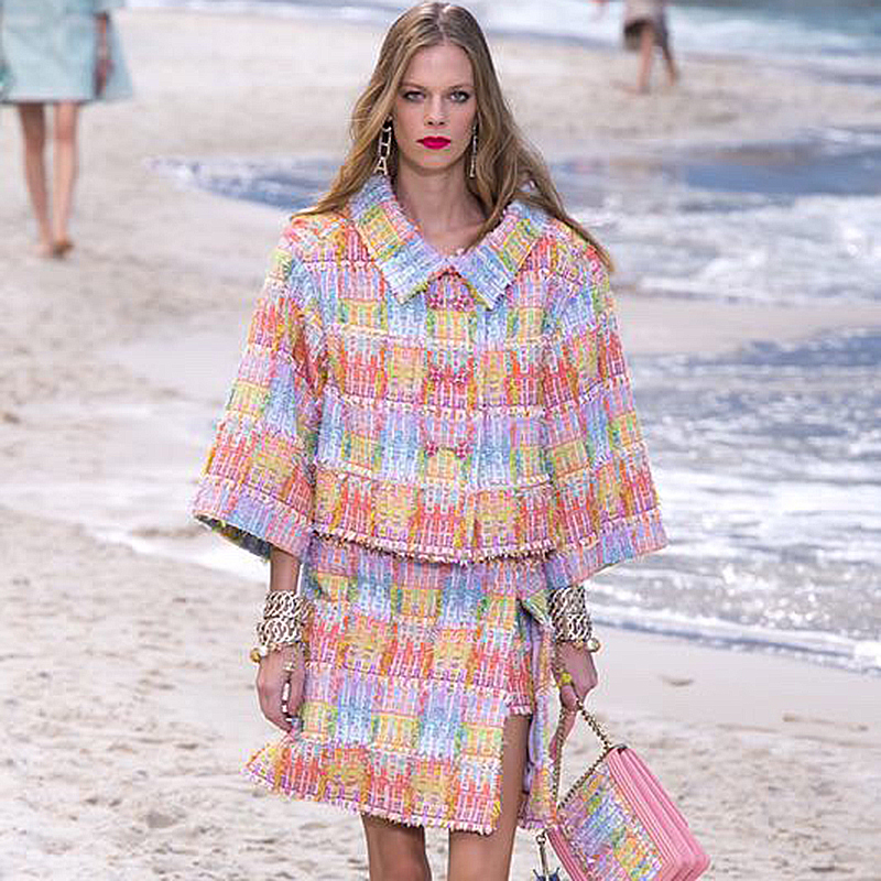 women tweed jacket vibrant clolor plus size female jacket and match skirt set 5xl 6xl casaco feminino 2 piece set abrigo mujer
