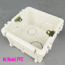 10pcs Residential 86 Model PVC type Outlet Junction Box Electrical Accessories Socket Flush Mounting Case