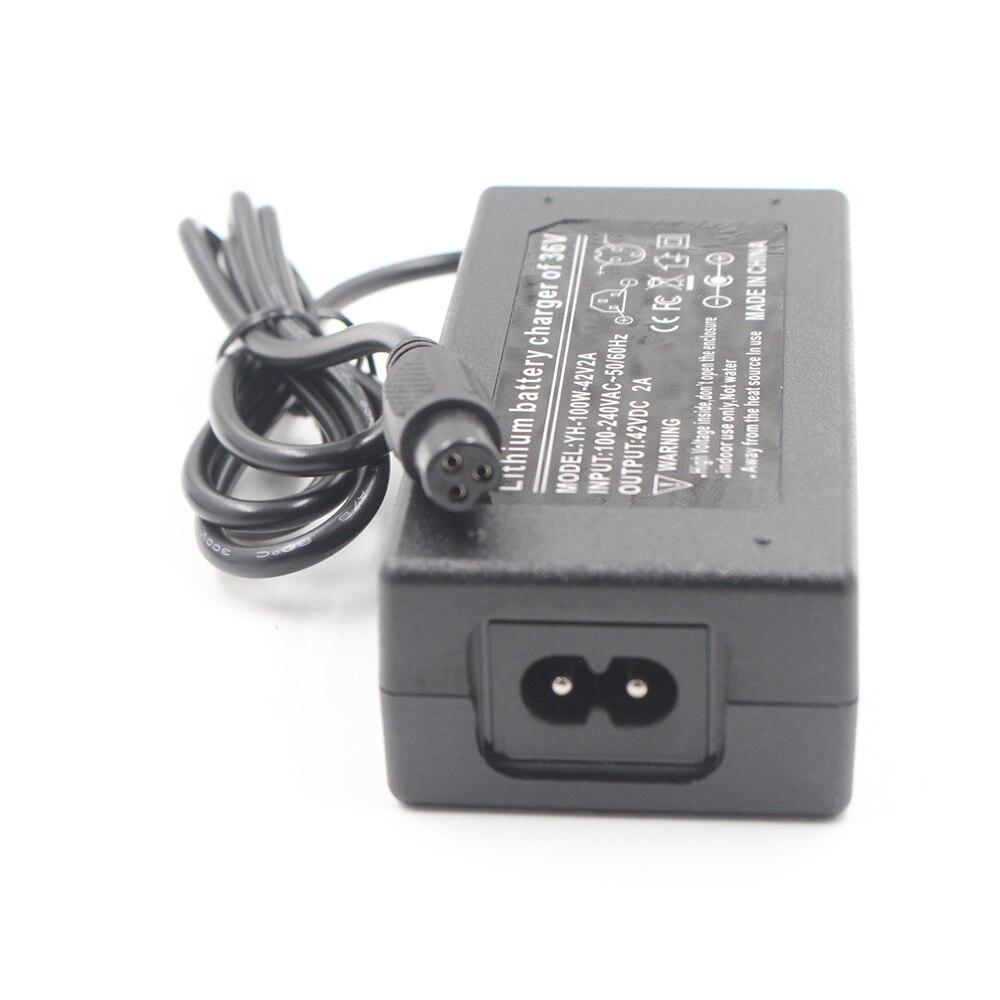 TangsFire 36V Ladeger/ät Ausgang 42v 2a ebike Ladeger/ät 3-Prong Inline 12mm 0.41inch Stecker
