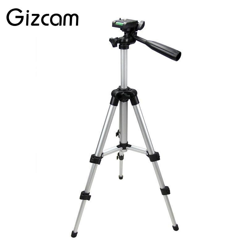 Gizcam Universal Portátil Dobrável Leve Tripé 4 Seções 35-105 cm + Suporte Do Telefone Móvel para Smartphone Câmera Compacta