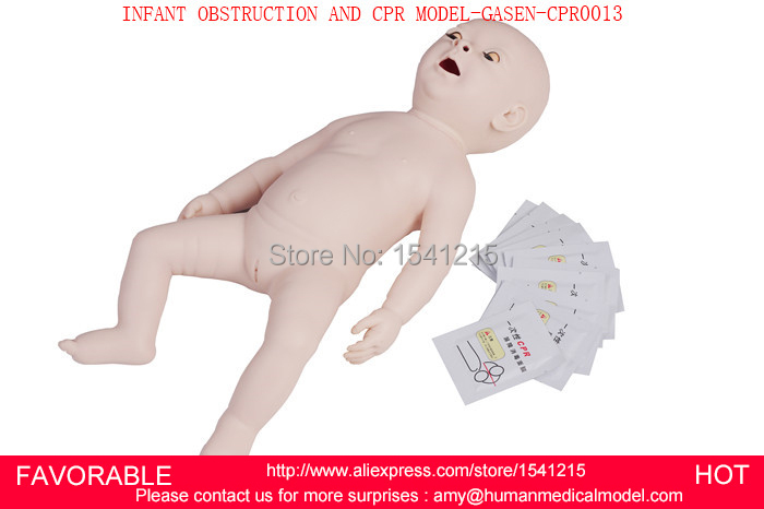 INFANT/BABY CPR AND OBSTRUCTION TRAINING MANIKIN MODEL,PEDIATRIC SIMULATION AND  INFANT OBSTRUCTION AND CPR MODEL-GASEN-CPRM0013 iso adult obstruction model cpr and choking manikin cpr manikin