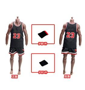 Image 3 - 1/6 مقياس الذكور الرياضة البدلة كرة السلة ستار الملابس مجموعة الرجال جيرسي لمدة 12 بوصة الذكور عمل الشكل دمية