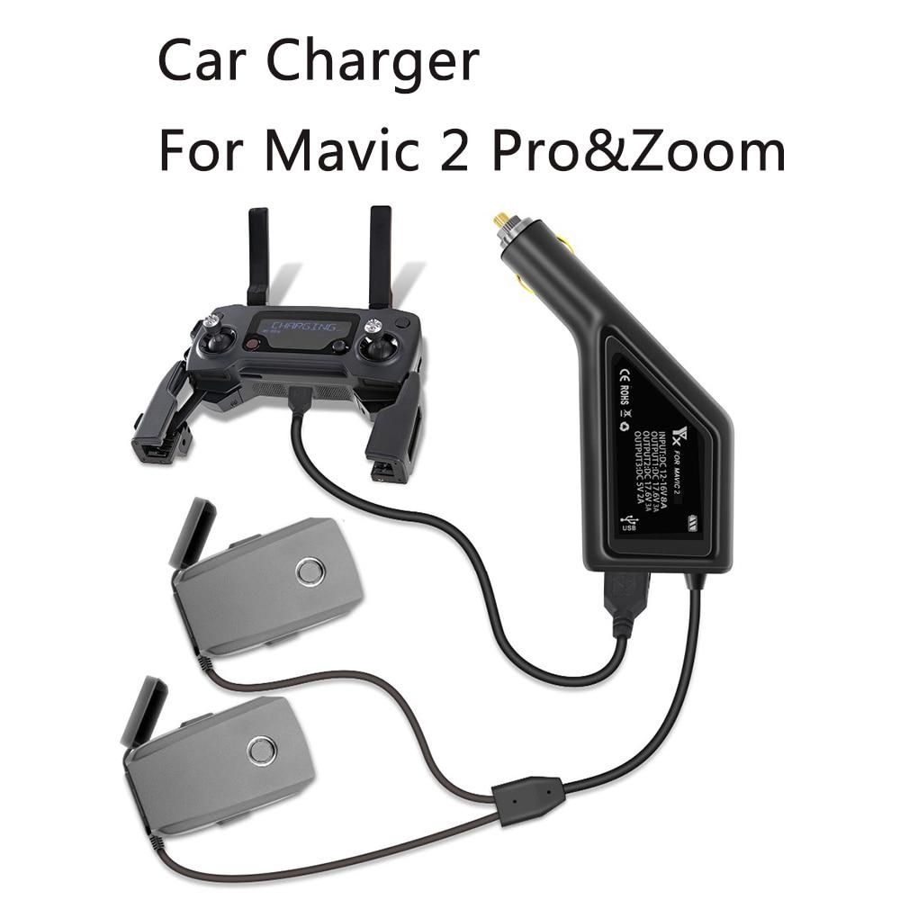 Chargeur de voiture pour DJI Mavic 2 Pro Zoom Intelligent moyeu de charge de batterie Mavic 2 Pro connecteur de voiture adaptateur USB batterie chargeur de voitureChargeur de voiture pour DJI Mavic 2 Pro Zoom Intelligent moyeu de charge de batterie Mavic 2 Pro connecteur de voiture adaptateur USB batterie chargeur de voiture