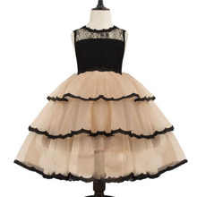 AmzBarley Little Girl tutu Dress Princess Wedding Dress Toddler girls Lace Layered Birthday Party clothes Kids ball gown недорого