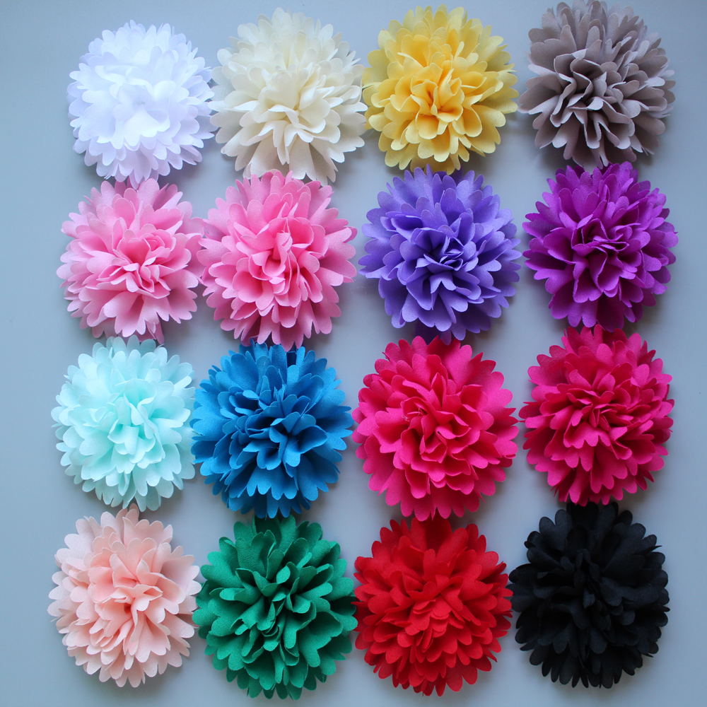 2015 new candy clor Chiffon Flower for Headband Infant Baby diy fabric flower flat back children Hair Accessories 32ps/lot free shipping 2015 new 60pcs lot 20colors fashion handmade felt rose flower diy for hair accessories headband ornaments