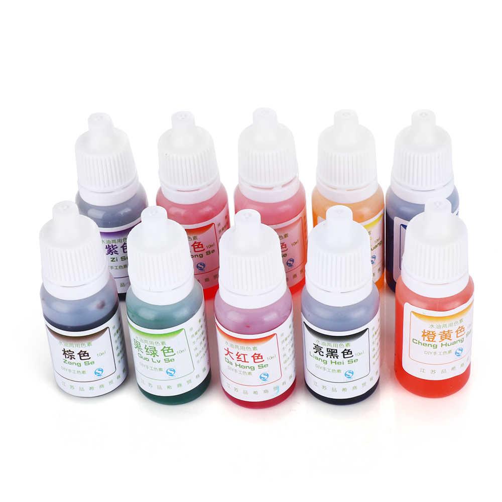 10ml DIY อีพ็อกซี่สีเรซิน UV สีย้อมย้อมสีคริสตัลโคลนเรซิน UV ย้อมสี Pigment เครื่องประดับทำอุปกรณ์เสริม