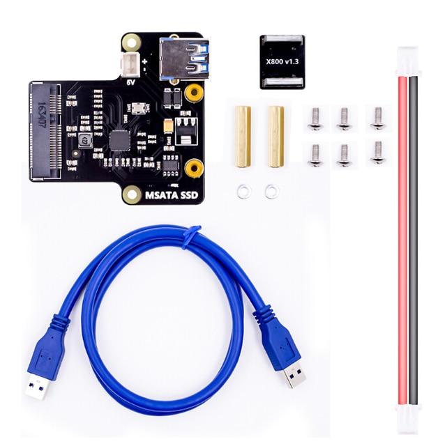 Raspberry pi scheda di espansione X850 mSATA SSD disk supporta 1 TB USB 3.0