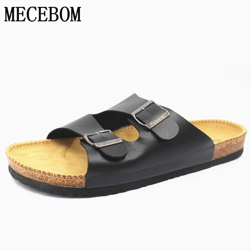 Hommes chaussures d'été plus la taille 35-46 loisirs liège pantoufles de mode couple pantoufles bascules confortable chaussures a3