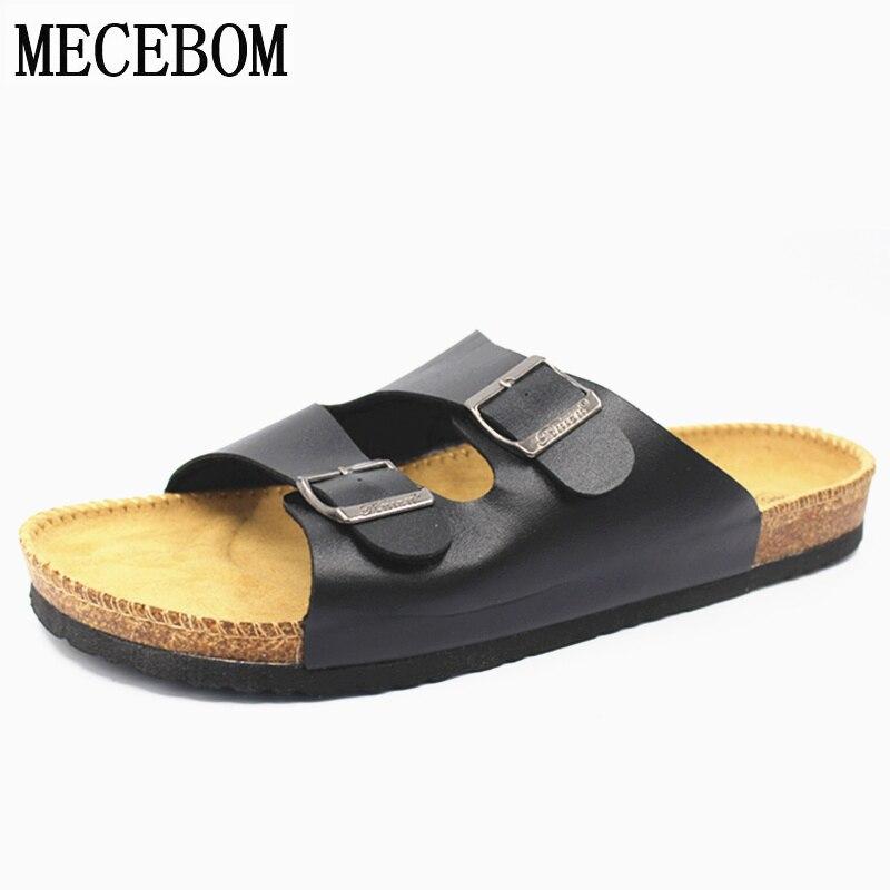 Men summer shoes plus size 35-46 leisure cork slippers fashion couple slippers flip-flops comfortable footwear a3