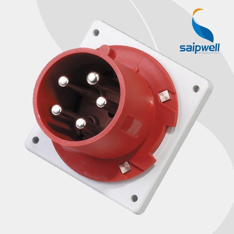 32A 400V 5P (3P+N+E) waterproof industrial electrical socket wall mounted Splash Proof IP44 EN / IEC 60309-2 type SP1688 water proof ip67 32a 3p e iec309 2 industrial socket ac 220 380v 240 415v