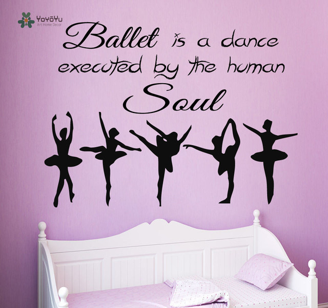 YOYOYU Wall Decal Vinyl Wall Decoration For Living Room Quote Dance ...