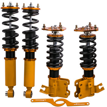 Coilovers Suspension Shock Absorbers For Nissan Silva 240SX CA18DE/CA18DET/SR20DE/SR20DE S13 180SX Coupe 89-94 Adjustable Height