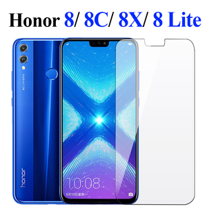 Honor 8x glass on for huawei honor 8x honer hono 8c 8 x Lite screen protector protective tempered glas film huavei x8 c8 8lite(China)