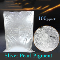 100g/pack Sliver pearl pigment diy ceramic powder paints coating Automotive Coatings art crafts coloring for leather