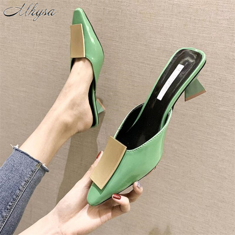 Mhysa Ladies Pumps Slippers Sandals Dress-Shoes Strange-Style Pointed-Toe High-Quality