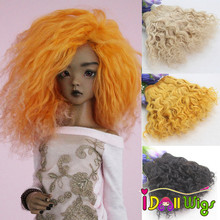 1 Piece Extension Wool Hair Wefts 18*100cm Yellow White Red Color Curly Doll Hair for BJD/SD DIY Wigs цена