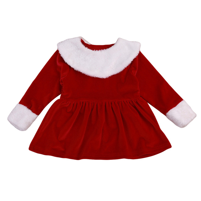 Baby Nieuwe Meisjes Lange Jurk Kerst Mini Peuter Mouwen nmvN8wOy0