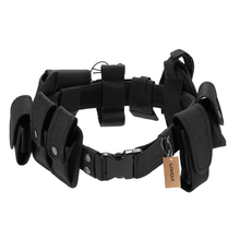цена на Lixada Tactical Police Security Guard Equipment Duty Utility Kit Belt with Pouches System Holster Outdoor Training Black
