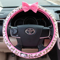 Personalized girls cute cartoon sushi cat car steering wheel covers universal 38cm car styling interior accessories