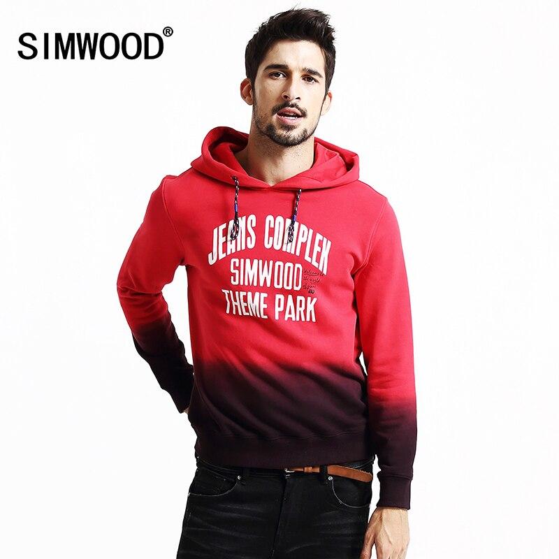 SIMWOOD 2016 New Autumn Winter sweatshirts men fashion streetwear casual Mixed colors hoodies hip hop tracksuits
