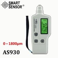 AS930 Film Coating Thickness Gauge Measuring Range 0 1800um Iron Based Magnetic Zinc Coating Paint Digital