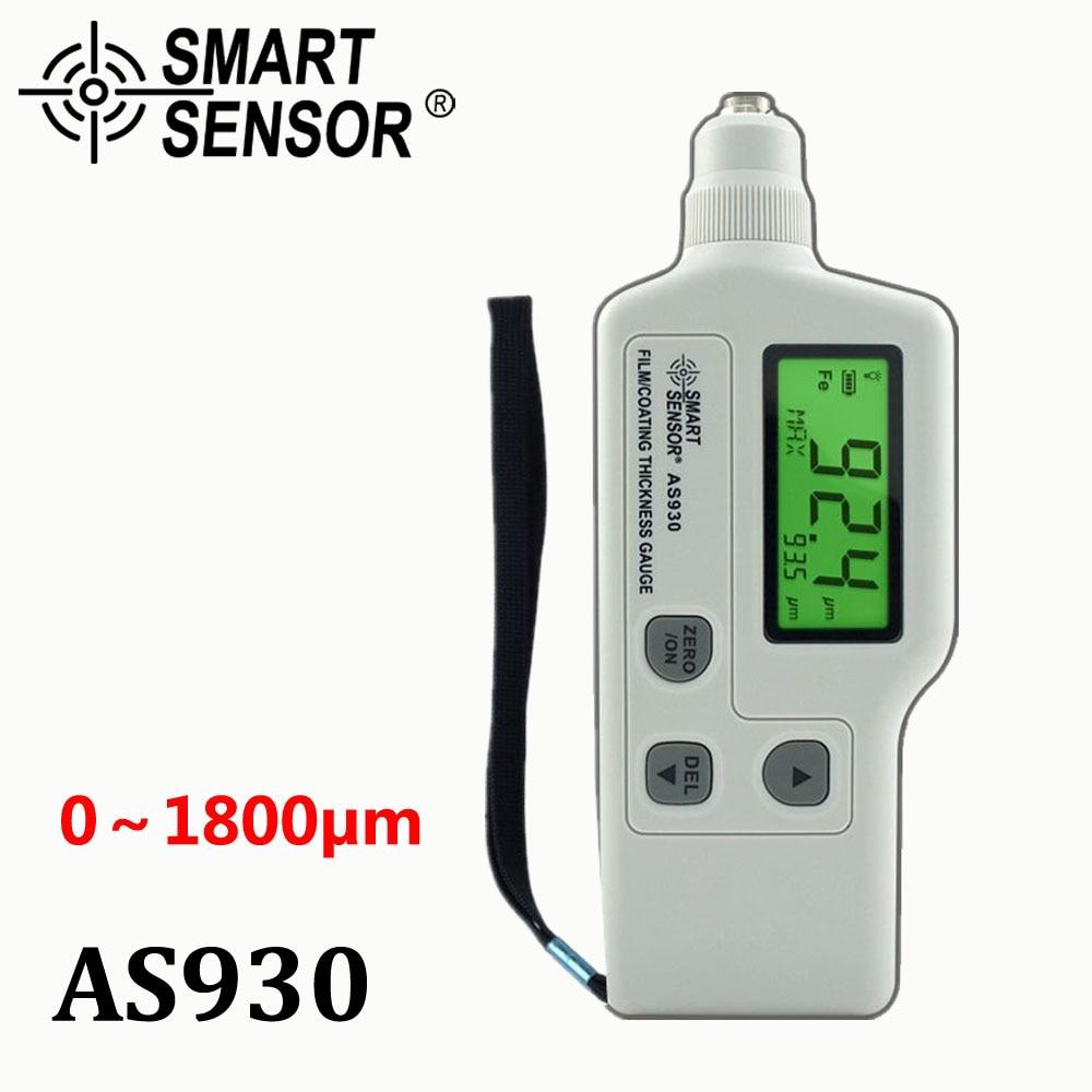 AS930 Film Coating car paint Thickness Gauge meter Car-detector Measuring Range 0-1800um Iron-based magnetic / zinc coating